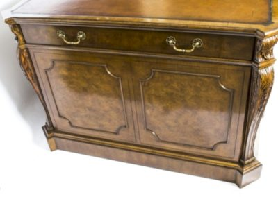 01210W-Stunning-Large-Burr-Walnut-Partners-Pedestal-Desk-6