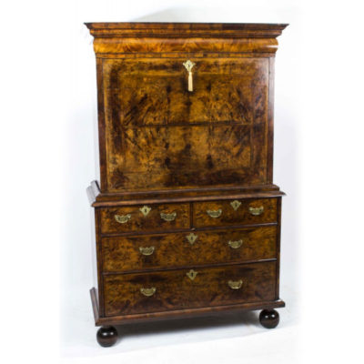 Antique 18th Century Queen Anne Walnut Secretaire