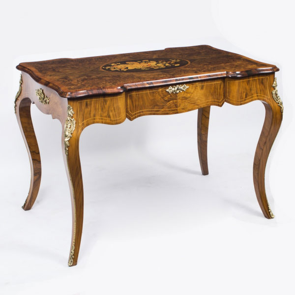 Antique French Walnut Writing Table Desk Bureau Plat c.1870 – Now Sold