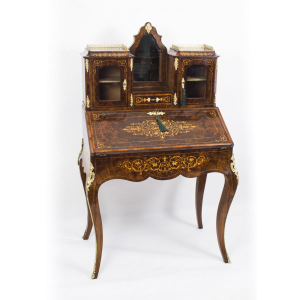 Antique Victorian Bonheur Du Jour or Ladies Writing Table Dating From c.1860