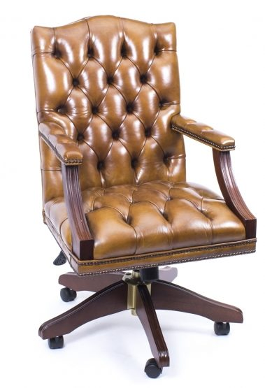 05071-English-Handmade-Gainsborough-Leather-Desk-Chair-Cognac-1