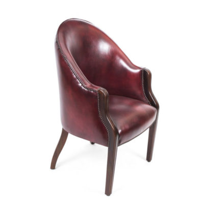 English Handmade Leather Desk Chair