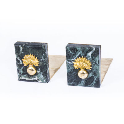 A Pair of Early Twentieth Century Marble Grenadier Guards Bookends
