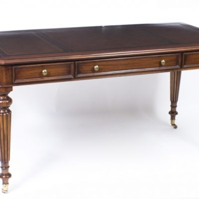 Vintage, In The Style of Gillows Writing Table or Desk in Mahogany 20th Century