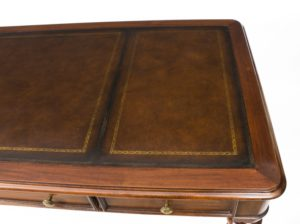 Gillows writing table leather inset writing surface