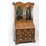 Antique Bureau Bookcase Queen Anne Period