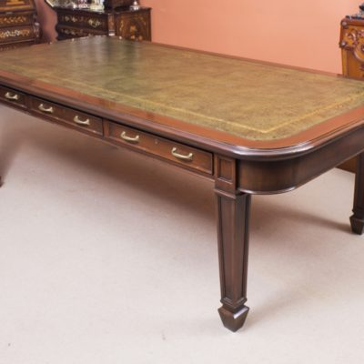Victorian Antique Library Table 8ft Long in Mahogany – Partners Library table C1880 – Price £2850