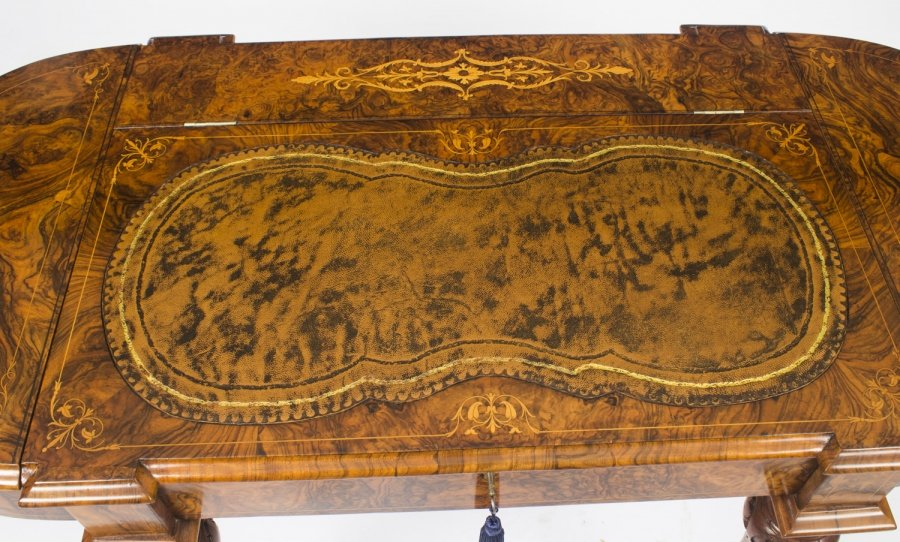 Burr Walnut Marquetry Writing Table