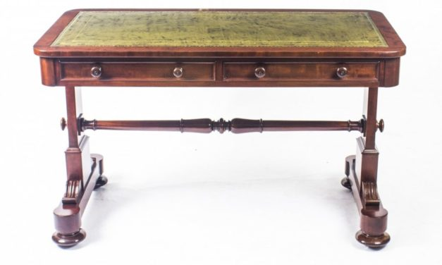 Antique William IV Writing Table Johnstone and Jeanes £1900