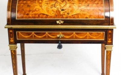 Antique French Louis XV Revival Cylinder Bureau Howard & Sons 19th Century – £2950